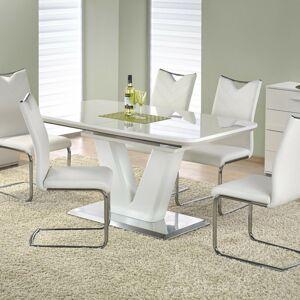 Halmar Jídelní stůl MISTRAL, bílý/nerez