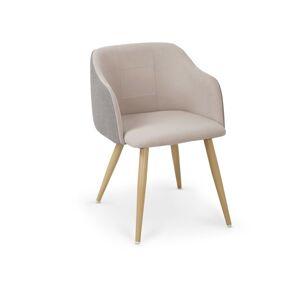 Halmar Jídelní židle K288, světle šedá/béžová