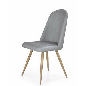 Halmar Jídelní židle K214, šedá/medový dub