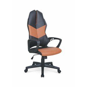 Halmar Herní židle COUGAR 3, černá/hnědá