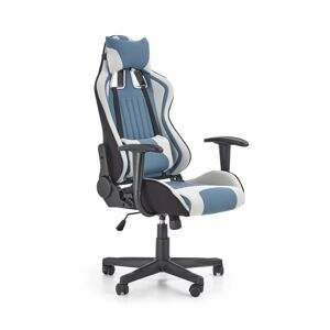 Halmar Kancelářská židle CAYMAN, světle šedá/tyrkysová