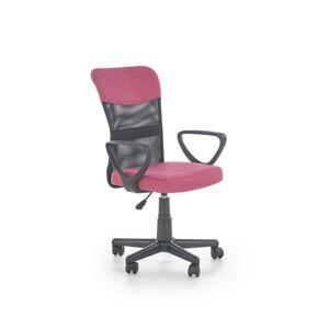 Halmar Dětská síťovaná židle Timmy, růžová/černá