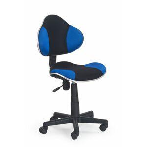 Halmar Dětská židle FLASH, černá/modrá