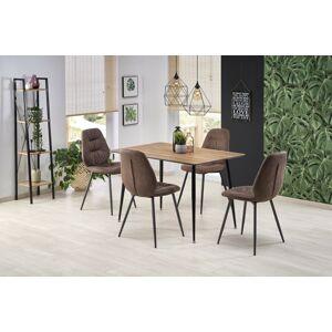 Halmar Jídelní stůl ARTTI, medový ořech/černý