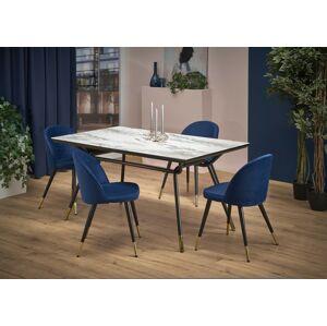 Halmar Jídeln stůl GLAMOUR, mramor/černý/zlatý