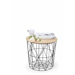 Halmar Konferenční stolek MARIFFA, černý/naturální
