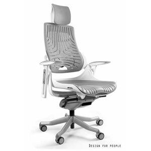 UNIQUE Kancelářská židle WAU, bílá základna/elastomer