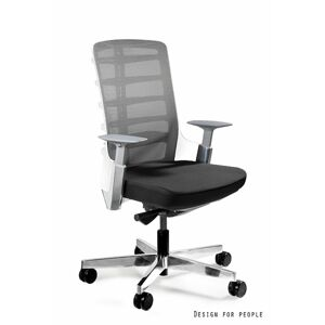 UNIQUE Kancelářská židle SPINELLY M, bílá/šedá