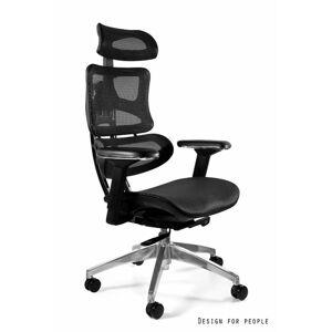 UNIQUE Kancelářská židle ERGOTECH, černá/chrom