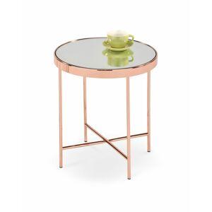 Halmar Konferenční stolek MIRA, měděný/zrcadlový