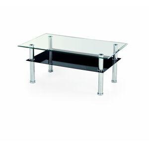 Halmar Konferenční stolek YOLANDA, sklo/černá