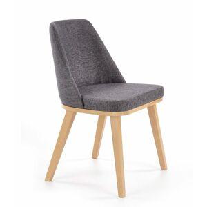 Halmar Jídelní židle Pueblo, medový dub/šedá