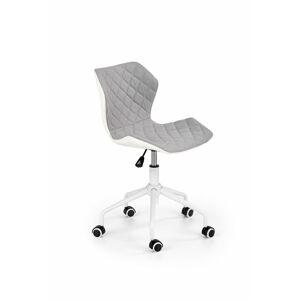 Halmar Dětská židle Matrix 3, bílá/světle šedá