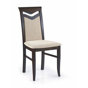 Halmar Jídelní židle Citrone, wenge/krémová