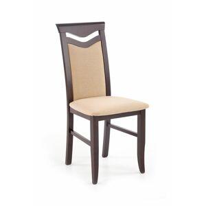 Halmar Jídelní židle Citrone Bis, wenge/béžová