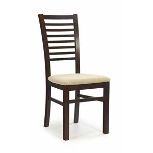 Halmar Jídelní židle Gerard 6, tmavý ořech