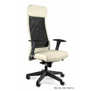 Kancelářské křeslo Ares Soft PU, béžová eko kůže