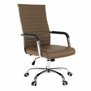 Kancelářská židle Faran, hnědá