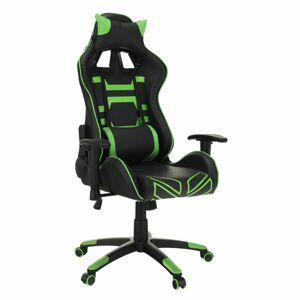 Tempo Kondela Herní židle Bilgi, černá/zelená
