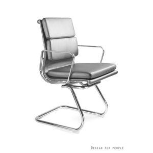 Konferenční židle Wye Skid PU, černá eko kůže