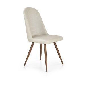 Halmar Jídelní židle K214, krémová/antická třešeň