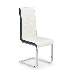 Halmar Jídelní židle K132, černo-bílá