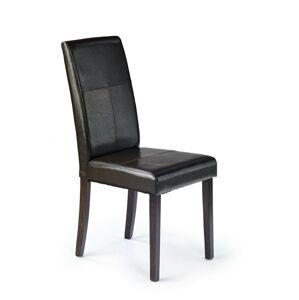 Halmar Jídelní židle KERRY BIS wenge/tmavě hnědá