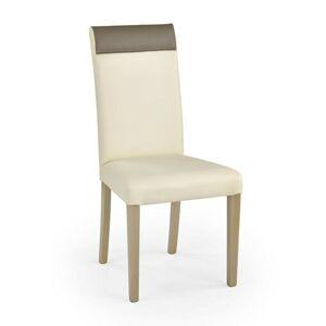 Halmar Jídelní židle NORBERT, krémová/dub-sonoma