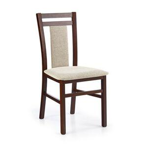 Halmar Jídelní židle Hubert 8, tmavý ořech