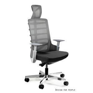 UNIQUE Kancelářská židle SPINELLY, černá/šedá