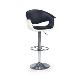 Halmar Barová židle H-46, černá/bílá
